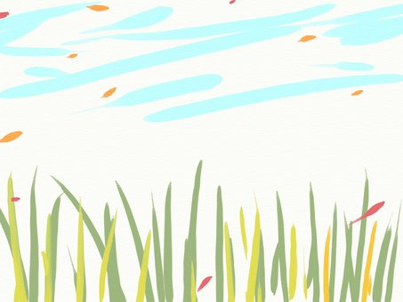 수채화 풍 가을 초원 프레임