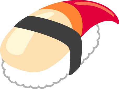 Sushi of the sea bream