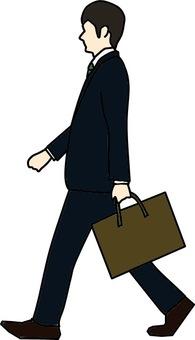 Walking businessman color