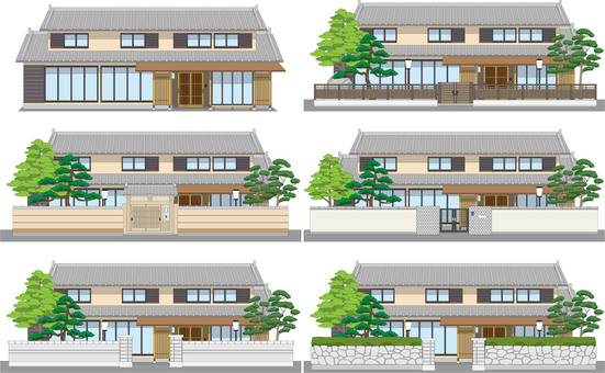 There are 6 edges of Japanese houses with mochi