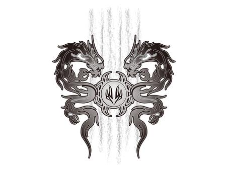 Tribal dragon - 001