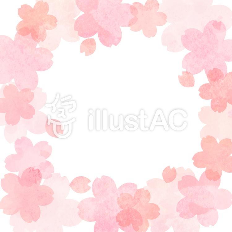 桜の寄せ書き色紙フレームイラスト No 1392327無料イラストなら