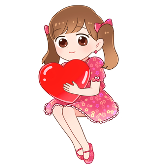 Valentine girl (pink)