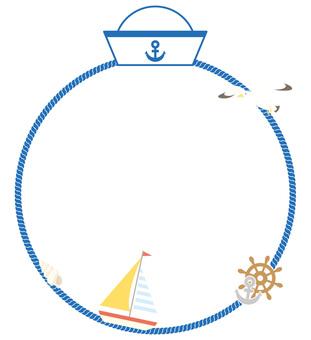Marine circle frame 02