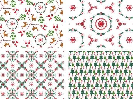손으로 그린 크리스마스 패턴