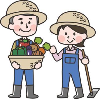Farmwork men and women