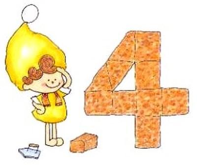 ♪ 어린이와 숫자의 4 ♪