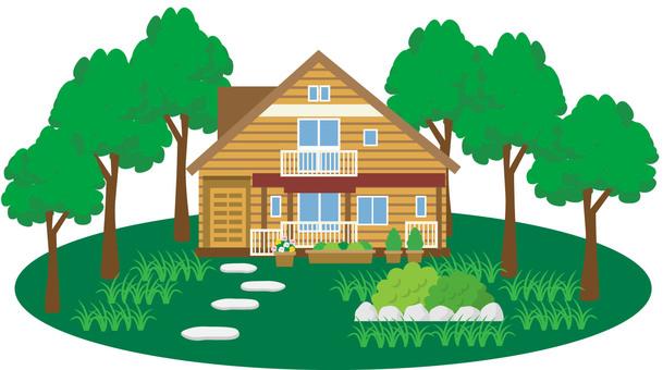 庭付き 주택 7 로그 하우스