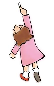 핑크 소녀