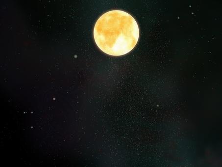 Space wallpaper full moon ④