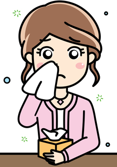 Female influenza, common cold, cough, hay fever