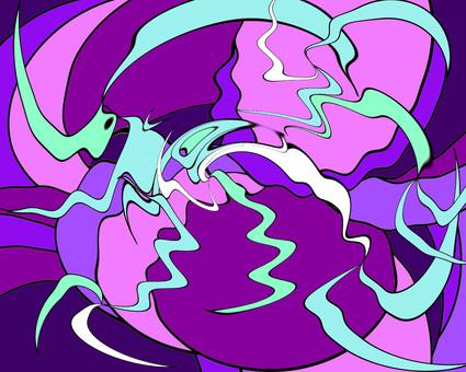Geometric pattern purple background