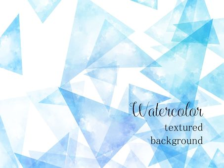 Triangular watercolor background material / blue a