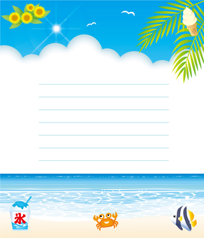 海辺のレター用紙