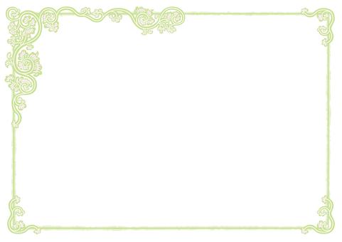 Arabesque frame (vortex hydrangea green)
