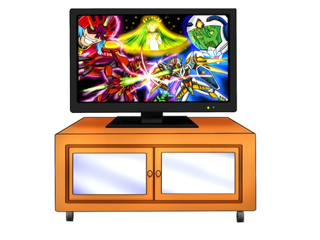 Television and TV stand with animation