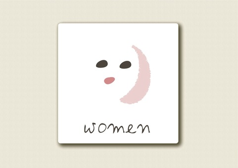 Toilet mark Yawa line face woman