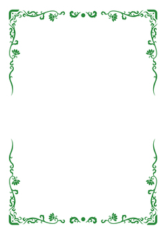 Asian style A4 frame (green)