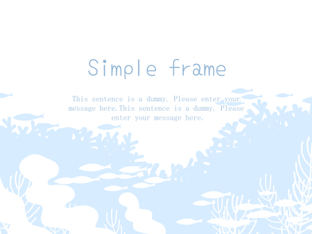 Deep sea frame 01 / blue b