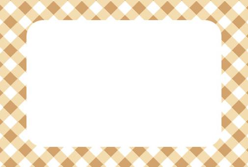 Check frame card brown