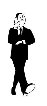 Walking businessman 1-2