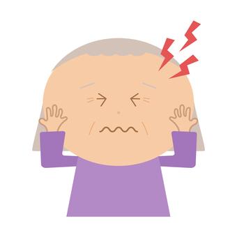 Grandmother with a headache