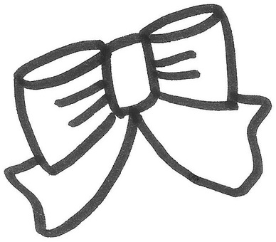 Hand-painted ribbon ribbon
