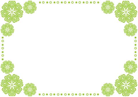 Frame - Star Flower - Green