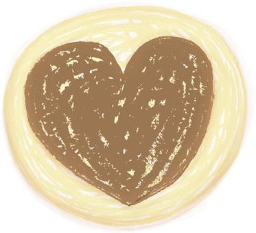 冰盒曲奇餅心臟巧克力