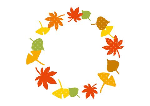 낙엽 프레임 3