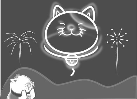Sumi cats - fireworks
