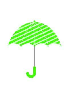 Green striped umbrella