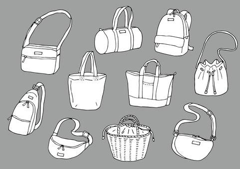 Various bags (white)
