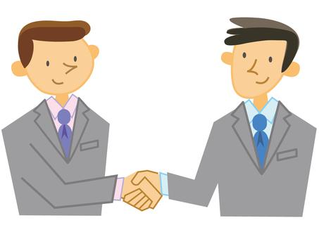 Businessman_ shaking hands