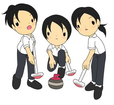 Curling girls