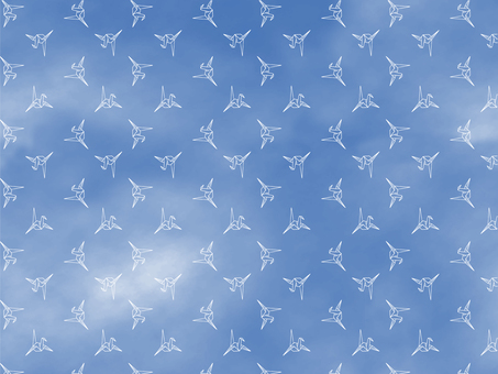 Crane Wallpaper Background Pattern-Sky