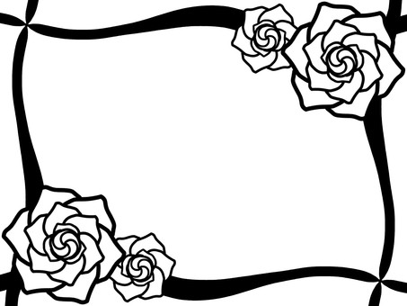 Rose frame (monochrome)