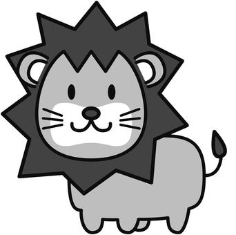 ライオン(グレー)