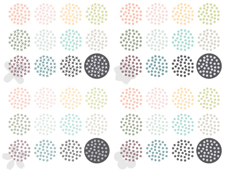 Small flower pattern material set