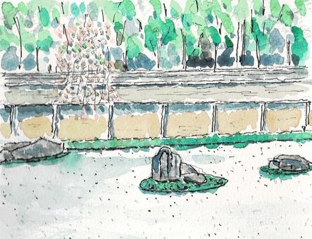 Rock garden at Ryoanji Temple