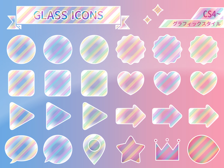Glass style stripe graphic style