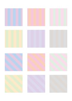 Stripe pattern set B