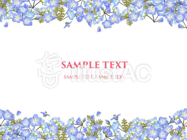 5月の花 ネモフィラ 3 フレームイラスト No 1438572無料イラスト
