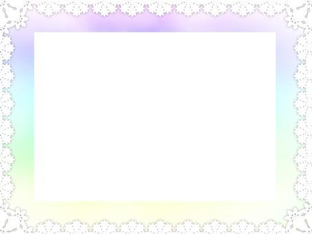 Lace rainbow color frame 4