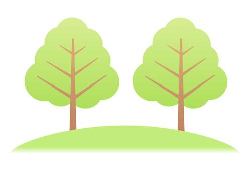 나무 (2 개 녹색)