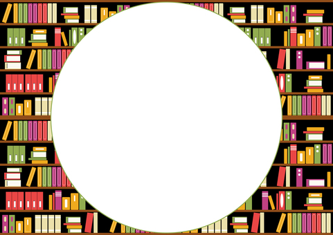 Circle frame bookshelf background