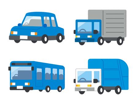 Car Vehicle Vehicle Set Blue