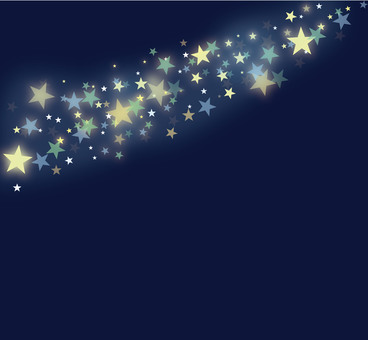 Star 3 color night sky