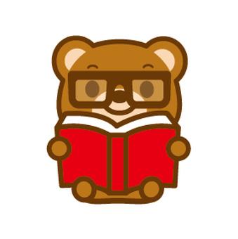 Bear reading eyeglasses