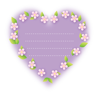Heart flower decoration (purple)
